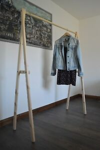 Handmade, Natural Wood, Clothes Rack, Clothes Rail !