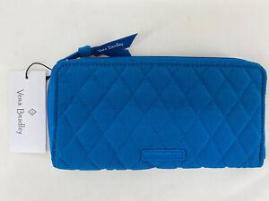 Vera Bradley Accordion Wallet Zip Around Clutch Organizer Bahama Bay $85 NWT