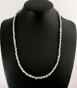 Rohdiamant Chain Precious White Natural Size Roh-Diamant 62 Carat / 18 1/8in