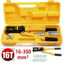 16Ton Hydraulic Crimper Crimping Force Tube Terminal Lug Battery Cable Wire Tool
