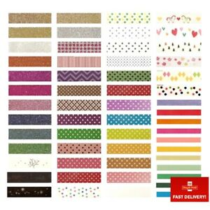 Decorative Adhesive Washi Tape - Paper Masking Tape for Planners Cards Scrapbook