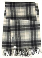 "Gentleman's JEAN JACQUE BENSON Classic GEOMETRIC Cashmere Wool GRAY 45"" SCARF"