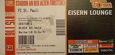 TICKET Eisern Lounge 2. BL 2015/16 Union Berlin - FC St. Pauli