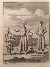 vestiti comuni TIBET from Grueber uomini costume acquaforte 1746 Thomas Astley