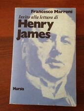 L54> Invito alla lettura di Henry James  - Francesco Marroni - 1983