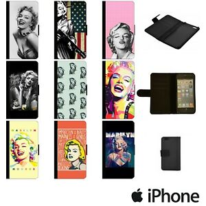 MARILYN MONROE ART ACTRESS SINGER FASHION FLIP WALLET FOR APPLE iPhone MARW00