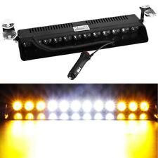 12 LED Emergency Warning Flash Strobe Light Beacon Visor Lamps Amber/White/Amber