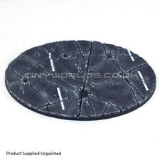 170 x 105mm Giant Oval Urban Rubble Resin Base - Warhammer 40K Imperial Knight