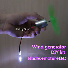 Micro wind turbines generator small DC motor blades DIY kit for project lover