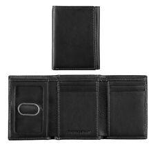 Johnston & Murphy Men's Tri-Fold RFID Leather Wallet Black 13008