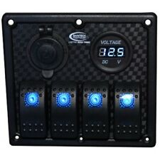 Baintech BTSWITCH4 4 Way Switch Panel 12/24 Blue LED