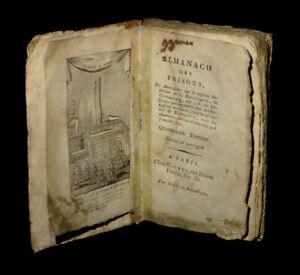 [REVOLUTION TERREUR ROBESPIERRE] COISSIN / COITTANT - Almanach des prisons. 1794