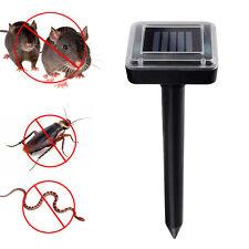 Solar Power Ultrasonic Sonic Mouse Animal Pest Sensor Detection Rodent Repeller