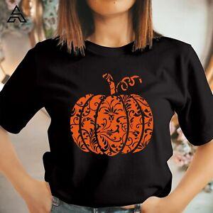 PUMPKIN FLORAL HALLOWEEN T shirt, Halloween Costume Gift for family Tshirt 1710
