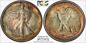 1945-S PCGS MS65 Walking Liberty, Lady Liberty Half, 0.50