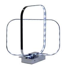 LED Schreib Lese Tisch Leuchte Lampe Wohn Zimmer Farbwechsel Fernbedienung chrom