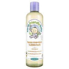 Earth friendly baby happy mandarin bain moussant 300ml-pack de 2