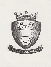 EX-LIBRIS Roger de BAYLE des HERMENS gravé sur bois par Jean CHIÈZE (1898-1975).