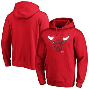 Chicago Bulls NBA Hoodie Men's Iconic Splatter Graphic Hoodie - New