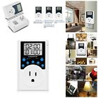 Timer Outlet Programmable Plug in Digital Timer Switch With 3 Prong Outlet 1800W photo