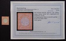 Deutsches Reich Mer 8 (*) neugummi, piccolo scudo del petto, BPP risultati (2)