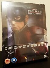 CAPTAIN AMERICA 3 CIVIL WAR Blu-Ray 3D UK Exclusive STEELBOOK Lenticular Magnet
