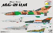 RV Aircraft 1/72 MiG-21 UM plastic kit