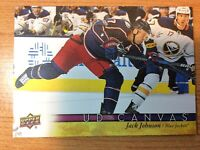 UPPERDECK 2017-2018 JACK JOHNSON CANVAS HOCKEY CARD C-144 COLUMBUS BLUE JACKETS