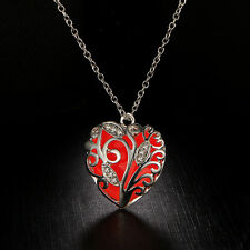 Unique Magical Fairy Glow in the Dark Pendant Locket Heart Luminous Necklace wl