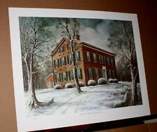 Winter At My Old Kentucky Home by CW Vittitow Artist Proof Historic Architecture