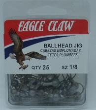 Eagle Claw JB0018UH Unpainted 1/8 oz  Ballhead Jigheads 25CT 20151