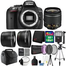 Nikon D5300 24.2MP DSLR Camera 18-55mm Lens + Zoom Flash & Premium Accessory Kit