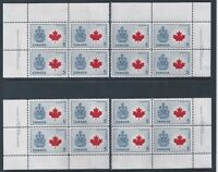 Canada #429A Canada Maple Leaf Matched Set Plate Block MNH *Free Shipping*