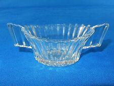 """Vintage Sugar Bowl, 2"""" x 4.5"""" ~ Heisey Glass, Ridgeleigh Pattern, Depression Era"""