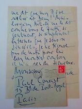 acteur Hamlet Jean Yonnel lettre autographe signée 1932 théâtre Paul-Courant