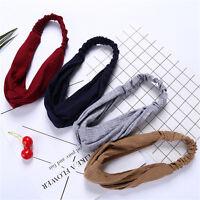 Fashion Women Hairband Turban Head Wrap Headband Twisted Knotted Yoga Head Band