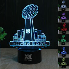 NFL Super Bowl 3D LED Acrylic Night  Light 7 Color Touch Switch Table Desk Lamp