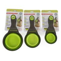 Pet Cat Dog Food Feeder Spoon Folding Sealing Clip Measuring Scoop Cup B8S9