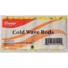 ANNIE SHORT COLD WAVE RODS W/ RUBBER BAND #1114, 12 COUNT YELLOW 3/16""