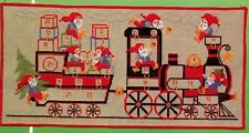 Permin Christmas Collection Cross Stitch Kit Advent Calendar Train with Elves
