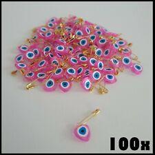 100 x Nazat boncuk en rosa con alfiler sünnet dügün ojo turco decoración Kina