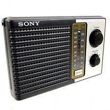 Bran New Sony ICF-F10 Two 2 Band FM/AM Portable Battery Transistor Radio