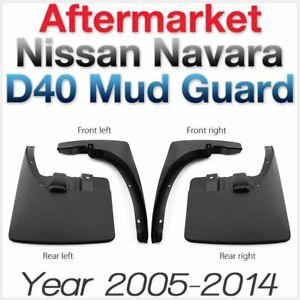 Front Rear Mud Flap Splash Guard For Nissan Navara D40 2005-2014 ST ST-X 550 ABS