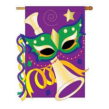 New listing Mardi Gras - Applique Decorative House Flag - H118001-P2