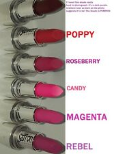 Matte Lipstick Saffron ~ PUMPKIN ~ POPPY ~ ROSEBERRY ~ CANDY ~ MAGENTA ~ REBEL