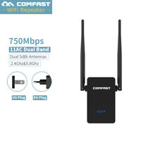 COMFAST 750 Mbps 802.11AC 2.4G/5G Dual Band Wireless Wifi Repeater Extender AP