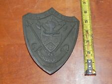 KNIGHTS OF PYTHIAS Pythian Cast METAL HEAVY wall Plaque? Crest MAINE Masonic