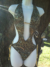 One Piece Animal print Bathing Suit Size Large Swimwear  by Baby Phat