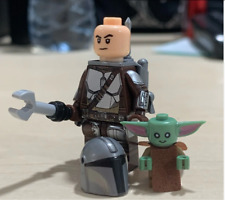 STAR WARS The Mandalorian+BABY YODA Minifigure CUSTOM Lego MOC New