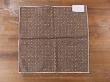 BRUNELLO CUCINELLI brown reversible polka dots silk cotton pocket square - NWT